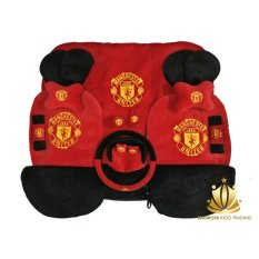 Sarung Jok 24in1 / Car Set / Bantal Mobil Manchester United MU Avanza, Xenia, Innova, Rush, Terios, March, dll (Head-rest Tidak Menyatu) (3 Baris)