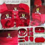 Jual Sarung Jok 18In1 Car Set Bantal Mobil Minnie Mouse Mini Mouse Agya Ayla Brio Dll Head Rest Menyatu 2 Baris Branded