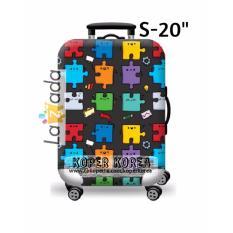 Rp 145.000. Sarung penutup koper import motif ...