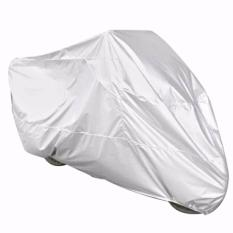 Sarung Penutup Motor Bahan Parasut Cover Bike 203 x 89 x 122 cm Size M s7946 - Silver