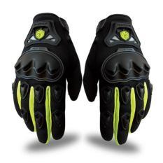Sarung tangan motor scoyco mc29 full black green ( HITAM - HIJAU )