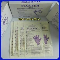 Sarung Tangan Steril Maxter Sterile Surgical Gloves No.6-5 ( Eceran )