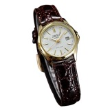 Beli Sbao Vintage Style Leather Strap Calendar Quartz Wanita Jam Tangan Band Kopi Putih Satu Watch For Woman Cicilan