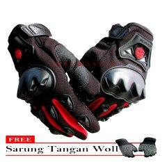 Scoyco Sarung Tangan MC-29D Full 03 - Hitam + Gratis Sarung Tangan Woll 938c2962ad