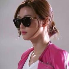 Sederhana dan wanita elegan besar bingkai kacamata hitam kacamata hitam kacamata hitam