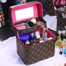 Sederhana Mudah Dibawa XXL Jinjing Dandan Kotak Tas Makeup
