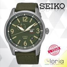 Harga Seiko 5 Sport Automatic Jam Tangan Pria Strap Nylon Case Stainless Stell Ssa299K1 Green Army Seiko