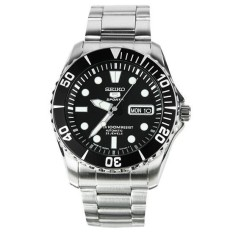 Beli Seiko 5 Sports Snzf17K1 Sea Urchin Automatic 23J Black Dial Stainless Steel 100M Cicil