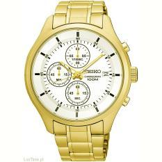 Seiko Chronograph Jam Tangan Pria Gold Stainless Steel 445S Jawa Timur Diskon