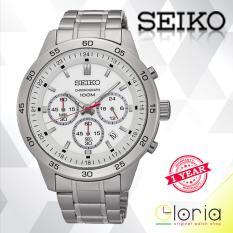 Toko Seiko Chronograph Jam Tangan Pria Strap Stainless Stell Sks515P1 Silver White Terlengkap Indonesia