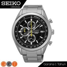 Spesifikasi Seiko Chronograph Jam Tangan Pria Strap Stainless Stell Ssb175P1 Black Lengkap