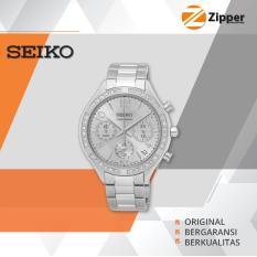 Model Seiko Chronograph Jam Tangan Wanita Tali Stainless Steel Ssb899P1 Terbaru