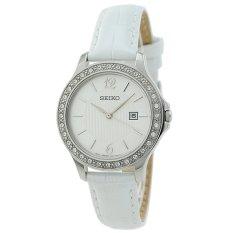 Seiko Jam Tangan Wanita Swarovsky - Putih - Strap Kulit - SXDF83P1