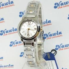 Jual Cepat Seiko Ladies Sxdc73P1 Quartz White Dial Jam Tangan Wanita Sxdc73