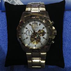 Harga Seiko Lord Spc190P1 Chronograph Gold Plated Bracelet Jam Pria Spc190 Paling Murah