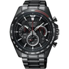 Seiko Neo Sport SSB311P1 Chronograph Black Stainless Steel Watch