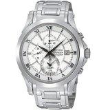 Beli Seiko Premier Chronograph Jam Tangan Pria Silver Stainless Steel Spc063 Secara Angsuran
