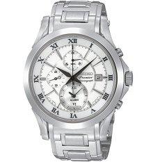 Harga Seiko Premier Chronograph Jam Tangan Pria Silver Stainless Steel Spc063 Baru Murah