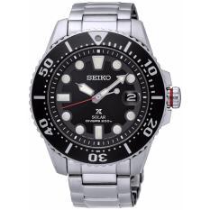 Seiko Prospex Sne437P1 Solar Divers Jam Tangan Pria Silver Black Seiko Diskon 40