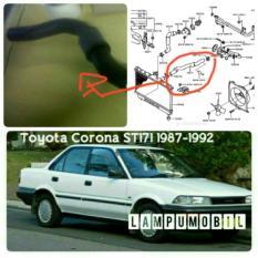 Selang Radiator Atas Toyota Corona Twincam Atau Salon ST171