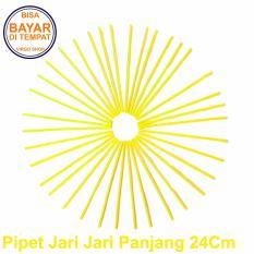 Selongsong Pipet Jari Jari Motor Panjang 24Cm - Pelindung Jari Jari Motor - Sedotan Jari Jari Motor - Kuning