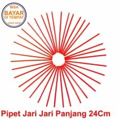 Selongsong Pipet Jari Jari Motor Panjang 24Cm - Pelindung Jari Jari Motor - Sedotan Jari Jari Motor - Merah
