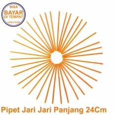 Selongsong Pipet Jari Jari Motor Panjang 24Cm - Pelindung Jari Jari Motor - Sedotan Jari Jari Motor - Orange