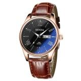 Review Terbaik Senda Sendas Pria Klasik Angka Romawi Watch Dial Mewah Biru Dipoles Kaca Kuarsa Wrist Watch Intl