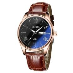 Beli Senda Sendas Pria Klasik Angka Romawi Watch Dial Mewah Biru Dipoles Kaca Kuarsa Wrist Watch Intl Lengkap
