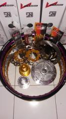 Sepaket Velg Tdr Ring17-Tromol Set Ninja R/ Ninja Rr- Jari Jari- Cakram Depan Belakang+Breket Piringan