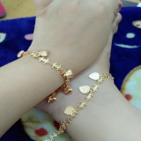 Harga Sepasang Gelang Tangan Kaki Gold Chanell Xuping Cantik Satu Set
