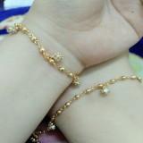 Harga Sepasang Gelang Tangan Kaki Kristal Gold Xuping Satu Set