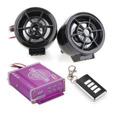 Sepeda Motor Tahan Terhadap Udara Audio Remote Sistem Kartu Suara Disebut TF MP3 FM Radio Warna (Hitam)