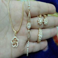 Toko Set Bunga Gelang Serut Cantik Xuping Gold Lengkap Banten