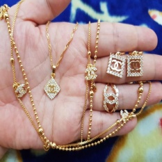 Set Cantik Chanelll Kotak Lengkap Xuping Gold Xuping Jewelry Diskon 50
