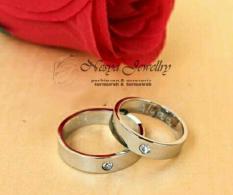 Set Cincin Couple Permata Anti Luntur Free Ukir Nama … Nesya Jewellry