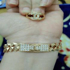 set gelang cincin cantik xuping gold silver