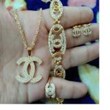 Harga Set Gold Chanelll Xuping Cantik Yang Bagus