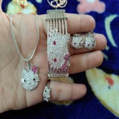 Promo Toko Set Kitty Cantik Gold Silver Fleksibel Xuping
