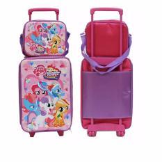 Tips Beli Set Koper Anak Little Pony Dan Lunch Bag Bahan Sponge Tahan Air Pink Yang Bagus