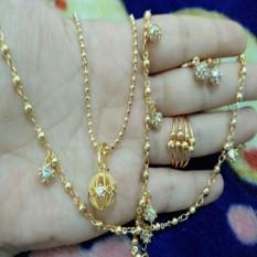 set lengkap cantik kristal gold xuping