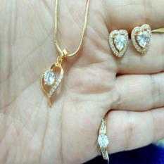 Beli Set Love Cantik Tanpa Gelang Xuping Gold Yang Bagus