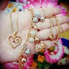 Set Perhiasan Gelang Love Cantik Xuping Gold