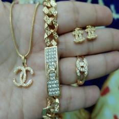 Set Plat Kecil Cantik Xuping Gold Silver Cantik Original