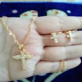 Jual Beli Set Salib Gold Kalung Anting Cantik Xuping Baru Indonesia