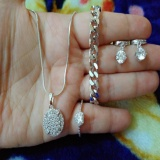 Beli Set Silver Cantik Gelang Cantik Xuping Lengkap