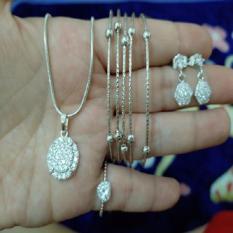 set silver kalung permata cantik xuping silver kroncong