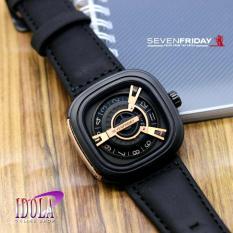 SevenFriday__Plat Gold - Jam Tangan Pria - Tali Kulit - M-Series [SPECIAL EDITION]