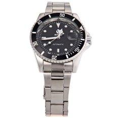 Ulasan Sewor Swq26 Pria Otomatis Self Wind Mechanical Watch Tampilan Tanggal Luminous Pointer Arloji Hitam