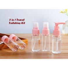 SgmTravel Toiletries Kit Set Botol Kecil Berpergian 1 set isi 5